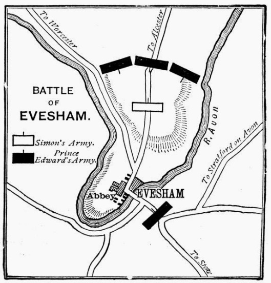 The Battle of Evesham (from 1910)